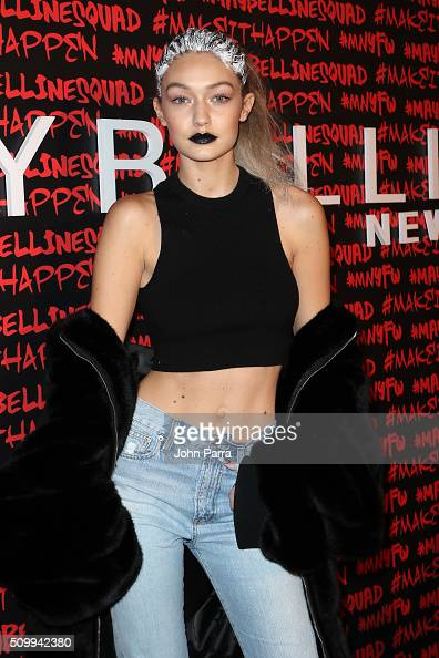 Gigi Hadid attends Maybelline New York celebrates fashion week at Dream Downtown Hotel on February 12 2016 in New York City