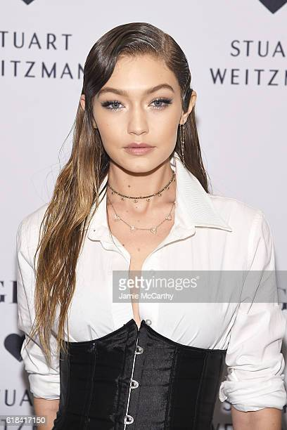 Gigi Hadid attends Stuart Weitzman's Launch of the Gigi Boot on October 26 2016 in New York City