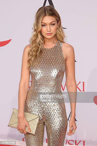 Gigi Hadid attends the 2015 CFDA Awards at Alice Tully Hall at Lincoln Center on June 1 2015 in New York City
