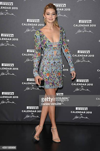 Gigi Hadid attends the 2015 Pirelli Calendar Red Carpet on November 18 2014 in Milan Italy