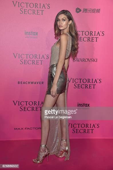 Gigi Hadid attends the 2016 Victoria's Secret Fashion Show after party on November 30 2016 in Paris France