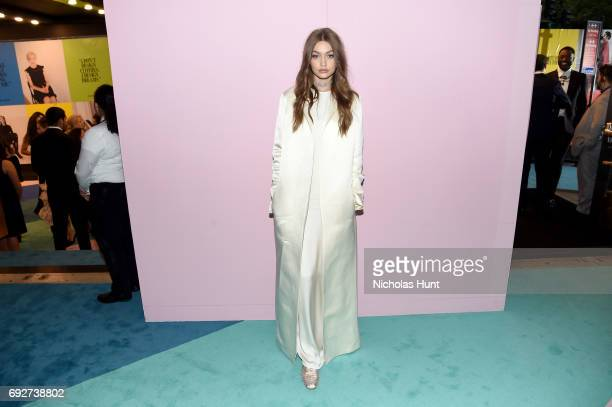 Gigi Hadid attends the 2017 CFDA Fashion Awards Cocktail Hour at Hammerstein Ballroom on June 5 2017 in New York City