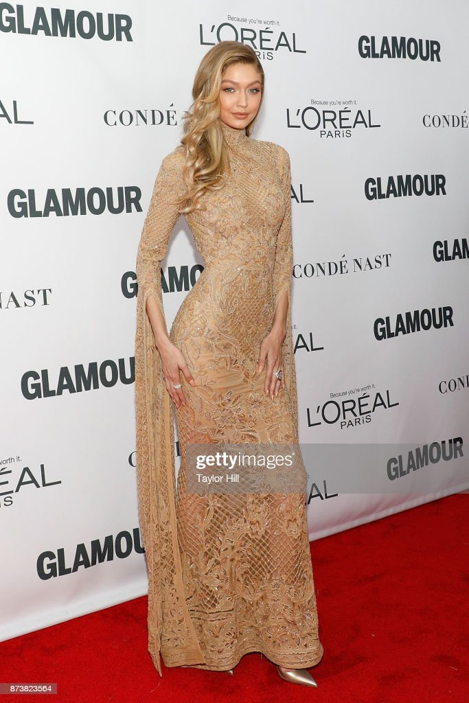 Gigi Hadid attends the 2017 Glamour Women Of The Year Awards at Kings Theatre on November 13, 2017 in New York City.