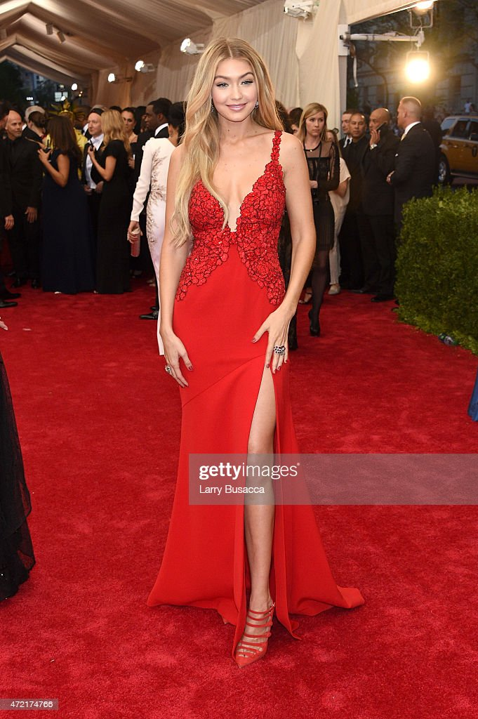 In Focus: Red on Red At The 2015 Met Gala