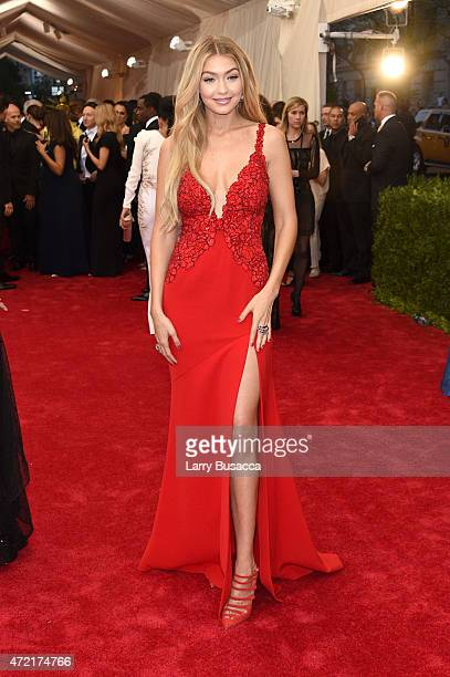 Gigi Hadid attends the 'China Through The Looking Glass' Costume Institute Benefit Gala at the Metropolitan Museum of Art on May 4 2015 in New York...