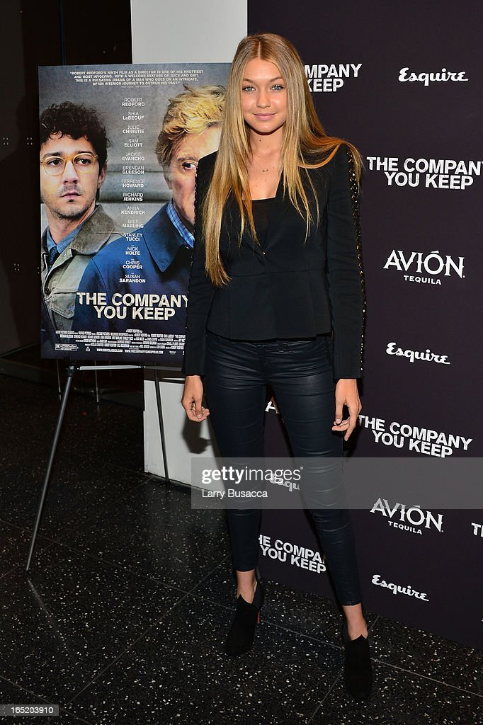 Gigi Hadid attends 'The Company You Keep' New York Premiere at The Museum of Modern Art on April 1, 2013 in New York City.