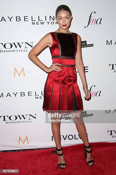 Gigi Hadid attends The Daily Front Row's Third Annual Fashion Media Awards at the Park Hyatt New York on September 10 2015 in New York City