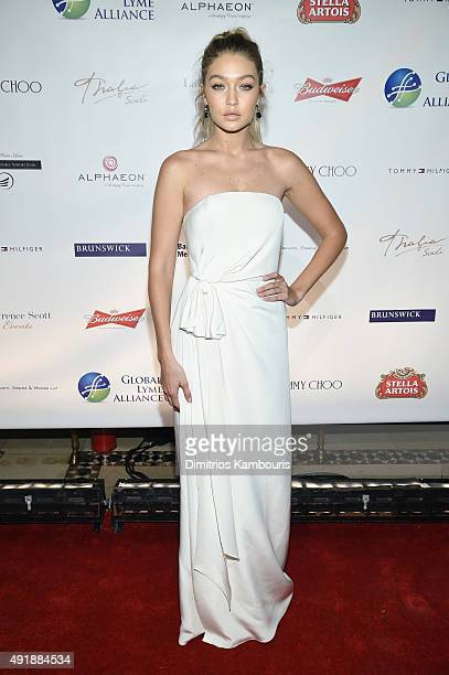 Gigi Hadid attends the Global Lyme Alliance 'Uniting for a LymeFree World' Inaugural Gala at Cipriani 42nd Street on October 8 2015 in New York City