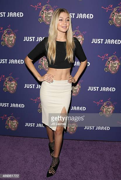 Gigi Hadid attends the Just Jared's Homecoming Dance at the El Rey Theater on November 20 2014 in Los Angeles California