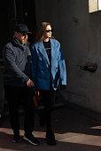 Lanvin : Outside Arrivals - Paris Fashion Week -...