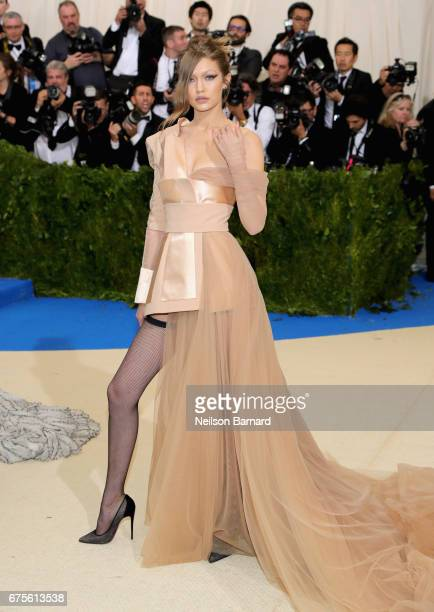 Gigi Hadid attends the 'Rei Kawakubo/Comme des Garcons Art Of The InBetween' Costume Institute Gala at Metropolitan Museum of Art on May 1 2017 in...