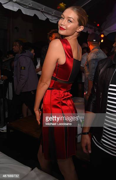 Gigi Hadid attends the Rihanna Party at The New York Edition on September 10 2015 in New York City