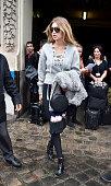 Gigi Hadid departs the Giambattista Valli Fashion Show during the Paris Fashion Week S/S 2016 Day Seven on October 5 2015 in Paris France