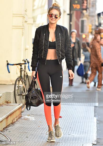 Gigi Hadid is seen in Soho on October 30 2015 in New York City