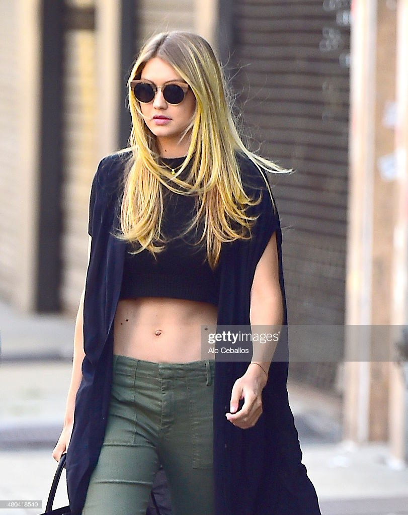 Gigi Hadid is seen in the East Village on July 11 2015 in New York City
