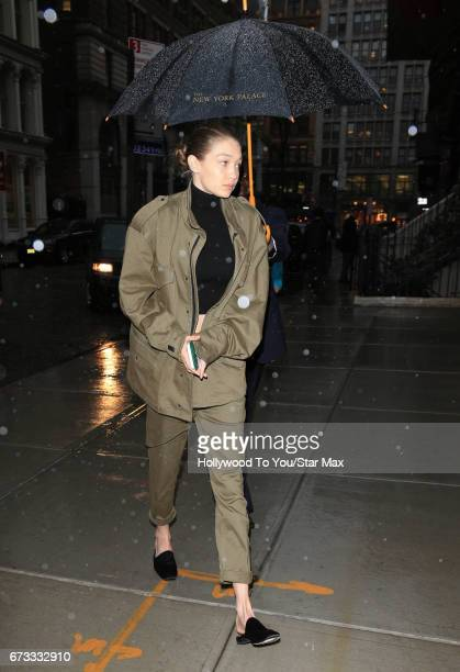 Gigi Hadid is seen on April 25 2017 in New York City