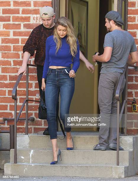Gigi Hadid is seen on August 12 2015 in Los Angeles California