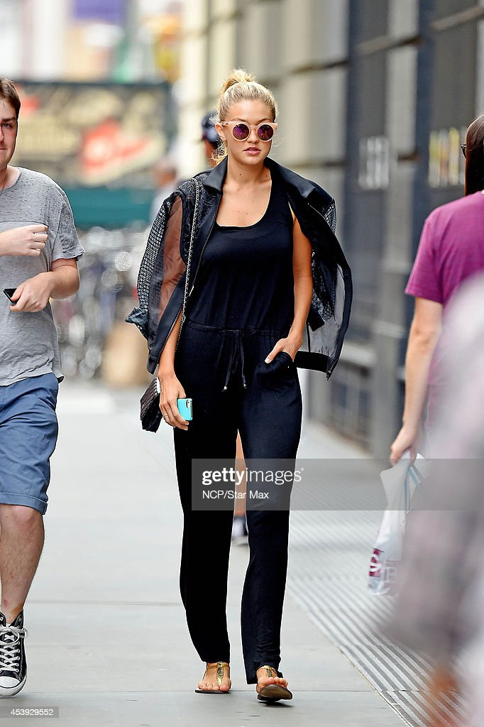 Gigi Hadid is seen on August 21 2014 in New York City