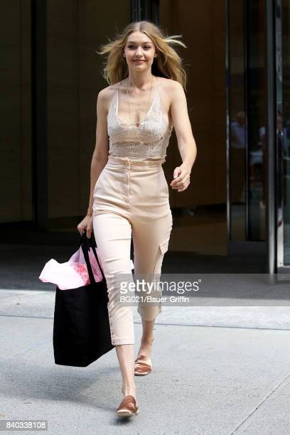 Gigi Hadid is seen on August 28 2017 in New York City