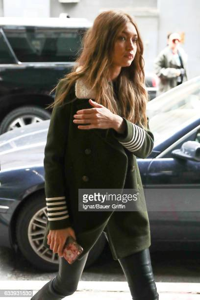 Gigi Hadid is seen on February 05 2017 in New York City
