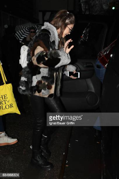 Gigi Hadid is seen on February 12 2017 in New York City