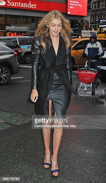 Gigi Hadid is seen on February 9 2015 in New York City
