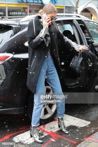 Gigi Hadid is seen on January 31 2017 in New York City