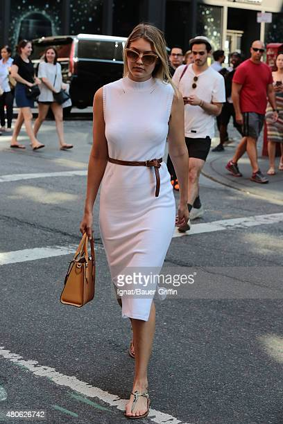 Gigi Hadid is seen on July 13 2015 in New York City