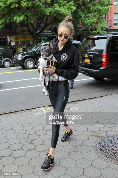 Gigi Hadid is seen on June 14 2017 in New York City