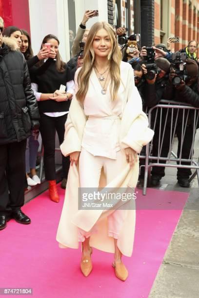 Gigi Hadid is seen on November 15 2017 in New York City