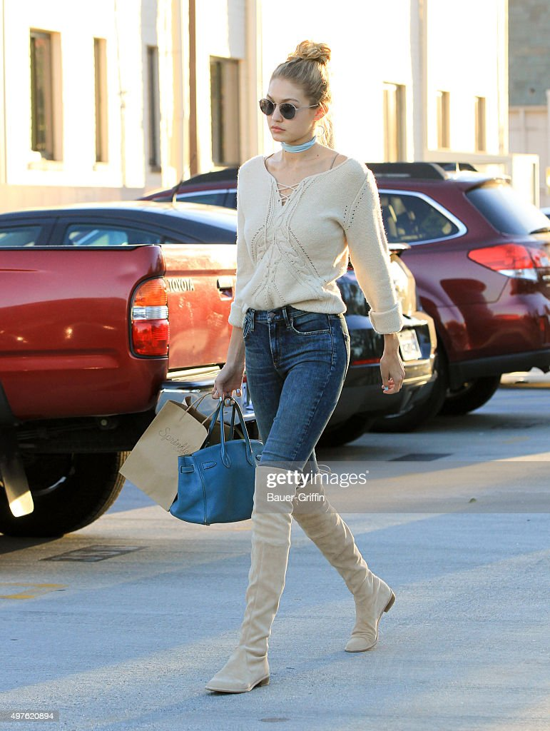 Gigi Hadid is seen on November 17 2015 in Los Angeles California