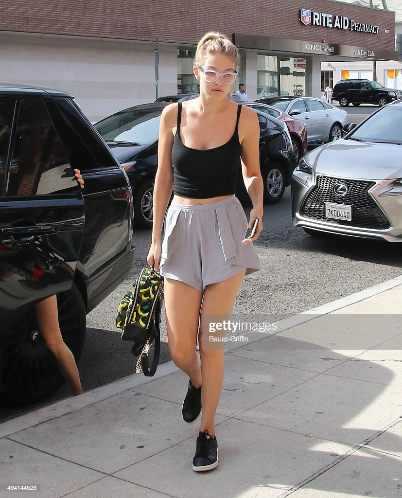 Gigi Hadid is seen on October 24 2015 in Los Angeles California
