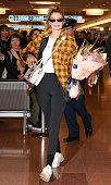 Gigi Hadid Arrives In Tokyo