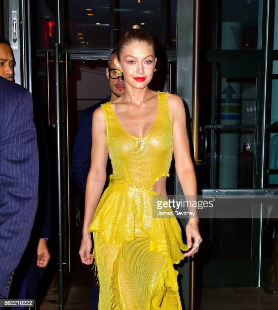 Gigi Hadid leaves The Whitby Hotel on October 16 2017 in New York City