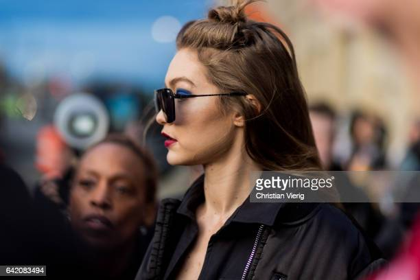 Gigi Hadid outside Anna Sui on February 15 2017 in New York City
