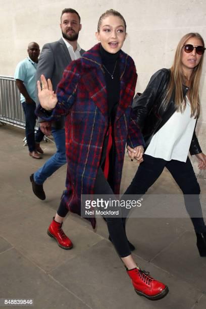 Gigi Hadid seen at BBC Radio One on September 18 2017 in London England