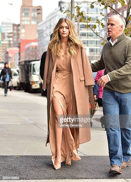Gigi Hadid seen on the streets of Manhattan on December 8 2015 in New York City