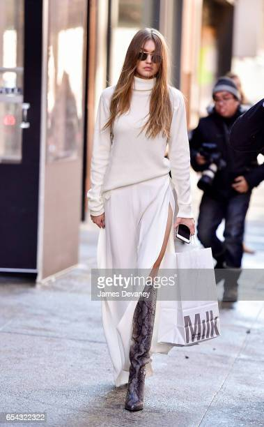 Gigi Hadid seen on the streets of Manhattan on March 16 2017 in New York City