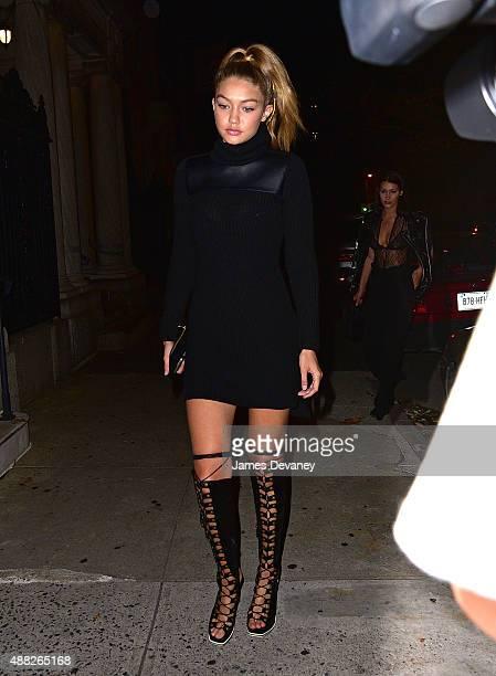 Gigi Hadid seen on the streets of Manhattan on September 14 2015 in New York City