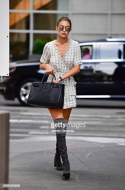 Gigi Hadid seen on the streets of Manhattan on September 5 2016 in New York City