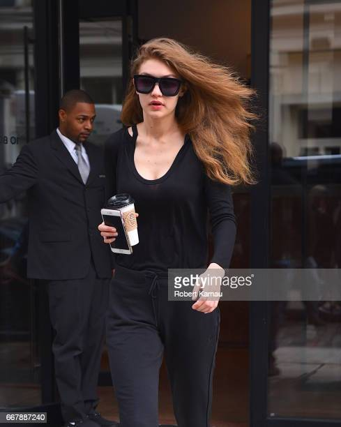 Gigi Hadid seen out in Manhattan on April 12 2017 in New York City