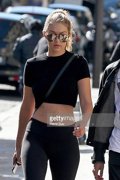 Gigi Hadid strolling near her Hotel on September 28 2015 in Paris France