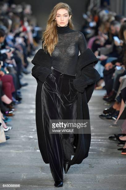 Gigi Hadid walks at the Max Mara Ready to Wear Fashion show during Milan Fashion Week Fall/Winter 2017/18 on February 23 2017 in Milan Italy