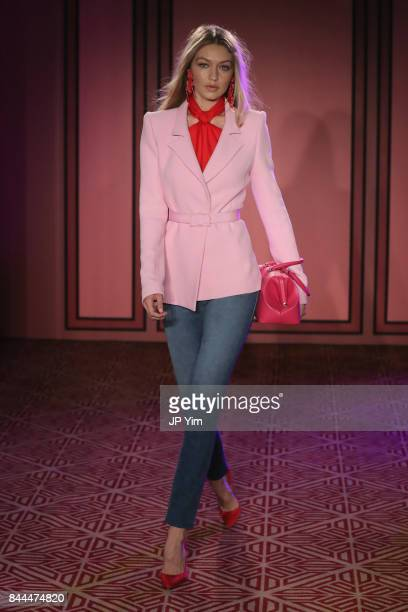 Gigi Hadid walks the runway at the Brandon Maxwell fashion show during New York Fashion Week The Shows on September 8 2017 in New York City