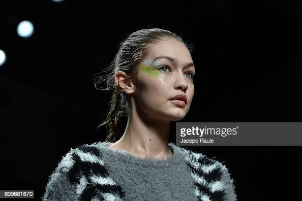 Gigi Hadid walks the runway at the Max Mara show during Milan Fashion Week Spring/Summer 2017 on September 22 2016 in Milan Italy