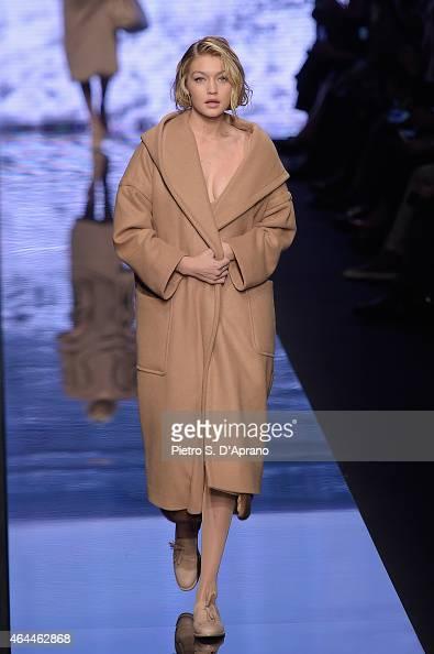 Gigi Hadid walks the runway at the Max Mara show during the Milan Fashion Week Autumn/Winter 2015 on February 26 2015 in Milan Italy