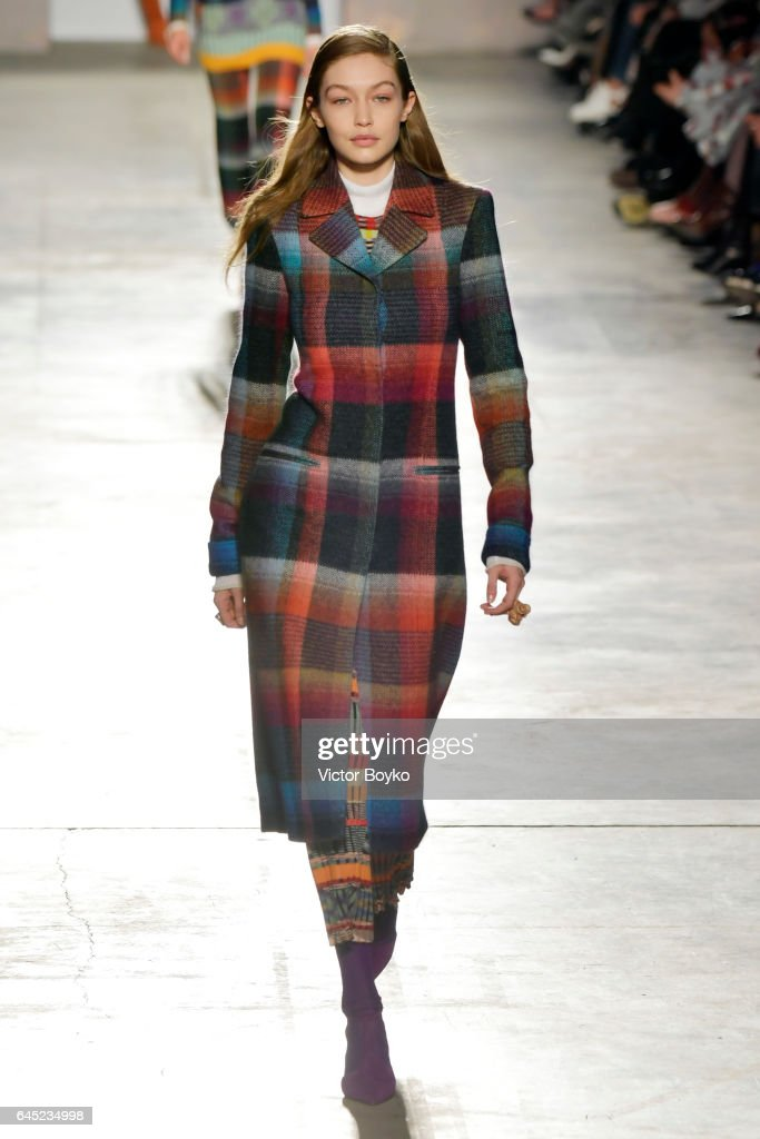 Gigi Hadid walks the runway at the Missoni show during Milan Fashion Week Fall/Winter 2017/18 on February 25, 2017 in Milan, Italy.