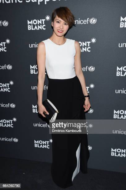 Gigi Leung attends the Montblanc UNICEF Gala Dinner at the New York Public Library on April 3 2017 in New York City