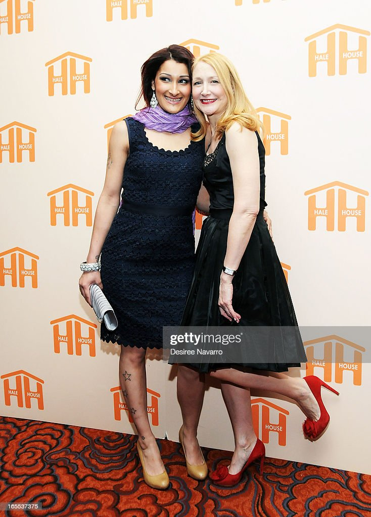 Gigi Rosas and actress <a gi-track='captionPersonalityLinkClicked' href=/galleries/search?phrase=Patricia+Clarkson&family=editorial&specificpeople=202994 ng-click='$event.stopPropagation()'>Patricia Clarkson</a> attend the 2013 Hale House Spring Gala at Mandarin Oriental Hotel on April 3, 2013 in New York City.