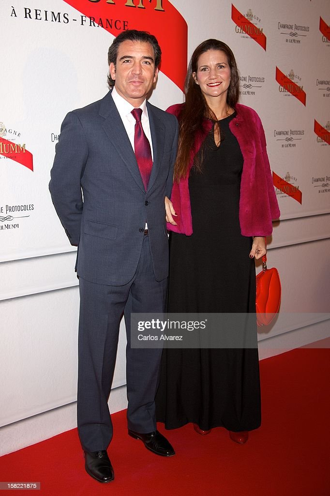 Gigi Sarasola and Samantha Vallejo Najera attend the 'Maison Mumm' inauguration at the Santo Mauro Hotel on December 11, 2012 in Madrid, Spain.